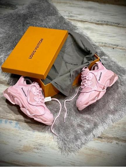 Tenis Zapatilla Balenciaga Triple S Sneaker Rosada Dama Ori