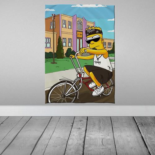 Imagem 1 de 3 de Stompy Bandeira Decorativa Bart Lowbiker Lowrider Chicano