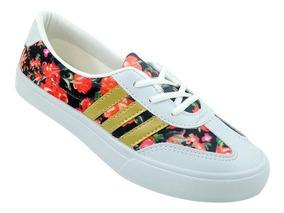 Sapatilhas adidas - Sapatilha Feminina adidas Floral Preto