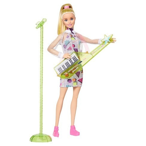 Boneca Barbie Loira Musica Teclado Rockers Keytar Rara Top