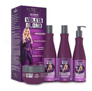 4 Kit Violeta Blond Super Matizador Liga Da Beleza Mary Life