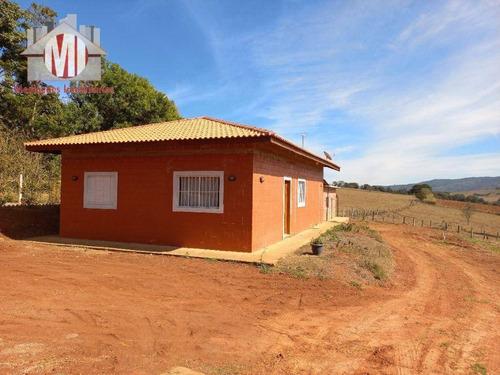 Imagem 1 de 30 de Ótima Chácara Com Escritura, 2 Casas, 4 Dormitórios, Terreno Plano, Bem Localizado, À Venda, 1039 M² Por R$ 340.000 - Rural - Tuiuti/sp - Ch1016