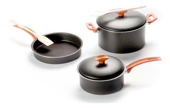 Set Bateria 5 Piezas Marmicoc Linea Trend Cacerola Sarten