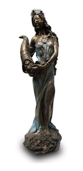 Imagem Deusa Grega Tique Da Fortuna Escultura Resina 25cm
