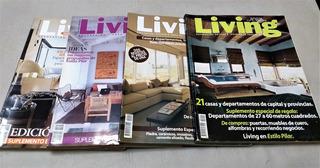 Lote 8 Revistas Living Decoración Y 8 Suplementos De Regalo
