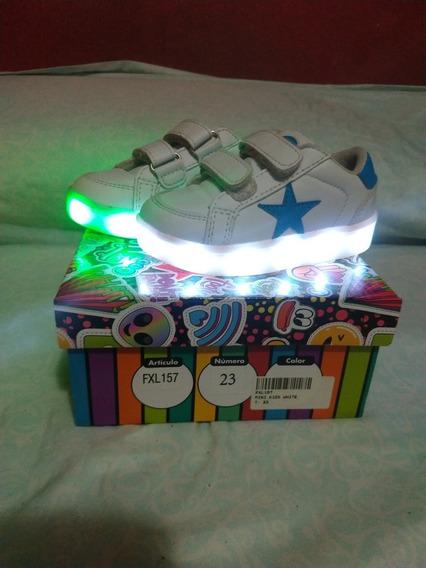Zapatillas Footy Con Luces Para Nena Talle 23