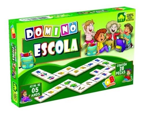Imagem 1 de 3 de Jogo Educativo Dominó Escola 28 Peças - Iob Brinquedos