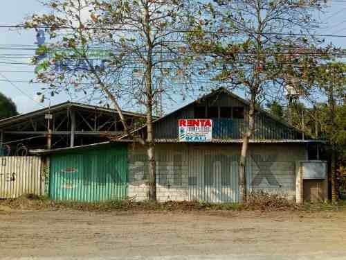 Renta Nave Industrial Esquina 1500 M² Tuxpan Veracruz, Terreno De 28 M. De Frente Por 54 M. De Largo, Ubicada En Esquina En Carretera A Cobos Km 4 En La Victoria, Cuenta Con Comedor Con Cocina De 11