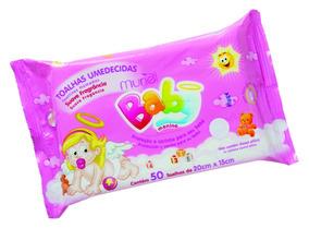 Lenços Umedecidos Muriel Para Bebê Meninas C/50 Unidades