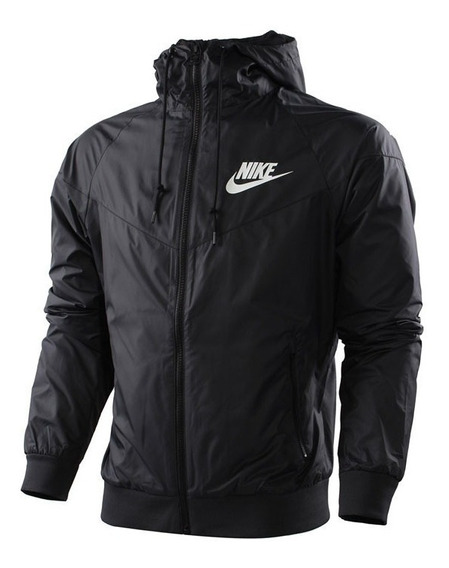 Agasalho Nike Casaco Corta Vento Masculina Preta Windrunner
