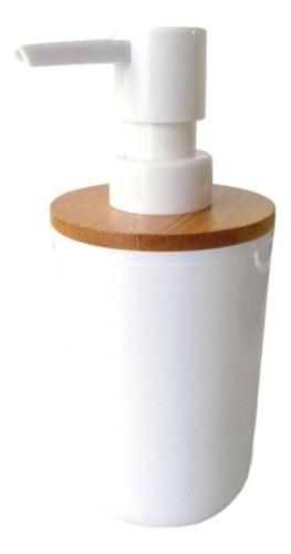 Imagen 1 de 6 de Dispenser Jabón Líquido Minimalista Blanco Deco Baño
