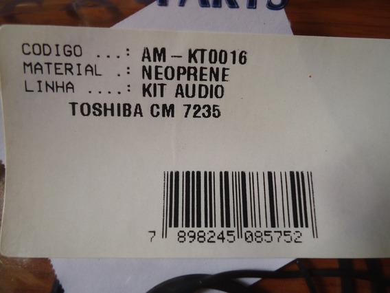 Correia Kit Áudio Tape Deck Som Toshiba Cm 7235