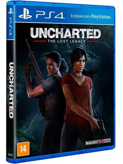 Jogo Uncharted The Lost Legacy Ps4 Midia Fisica Cd Original Game Novo Lacrado Dublado Português Promoção