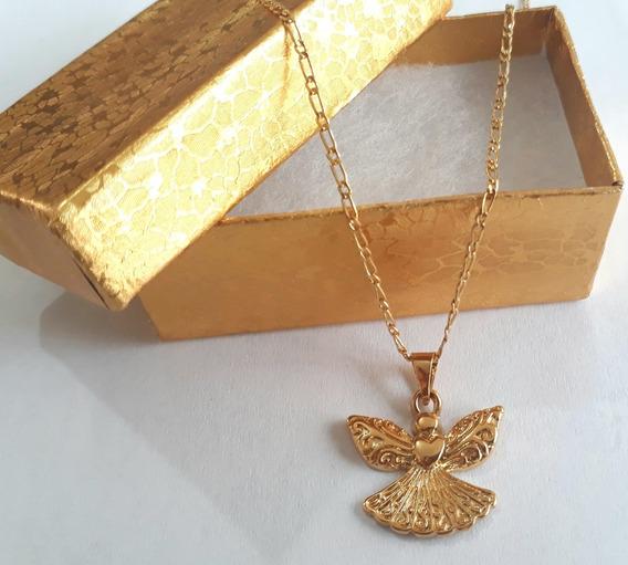 Angel De La Guarda Chapa De Oro 22k