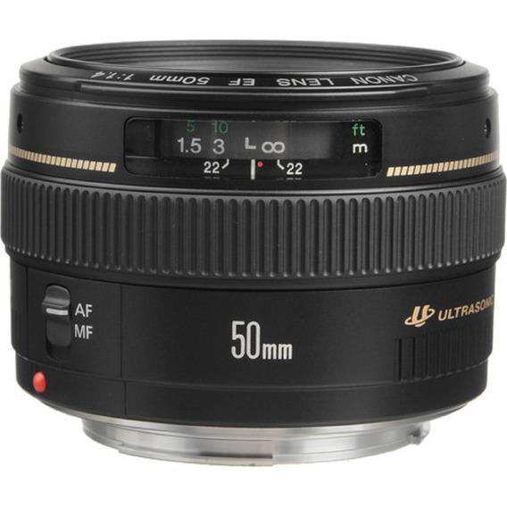 Lente Canon Ef 50mm F/1.4 Usm Garantia Novo