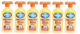 Shampoo Anti-pulgas Genial Pet 500 Ml Ph Neutro Kit Com 6 Un