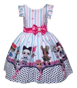 Vestido Lol Surprise Luxo 8 10 12 Anos Bonecas Lol Juvenil
