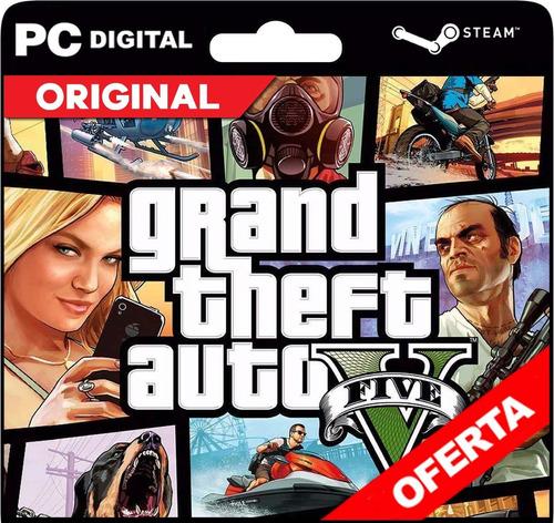 Gta 5 / Grand Theft Auto V Pc + Online Steam Original