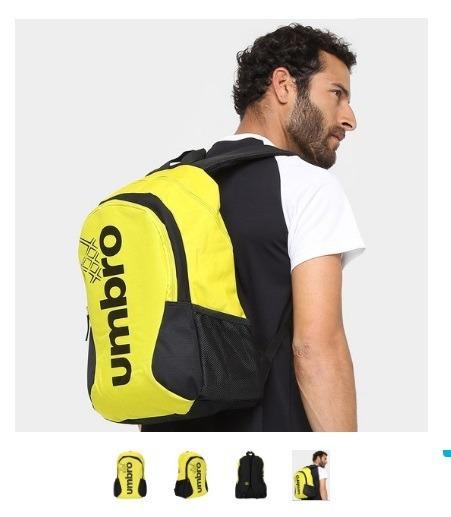 Mochila Umbro Prime Ii Com Porta Notebook - Amarelo/preto