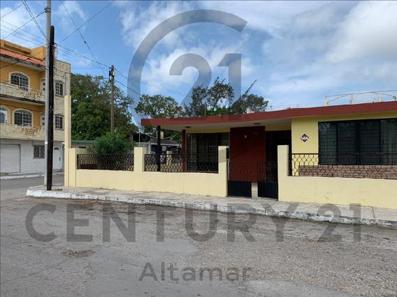 Casa De 1 Piso En Venta, Col. Guadalupe Mainero, Tampico, Tamps.