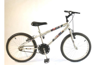 Bicicleta Infantil Aro 20 Masculina Prata + Brindes