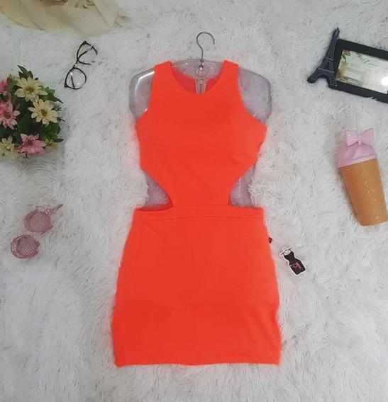 Promoção Vestido Justo Vestido Neon Curto Colado Verão Mila