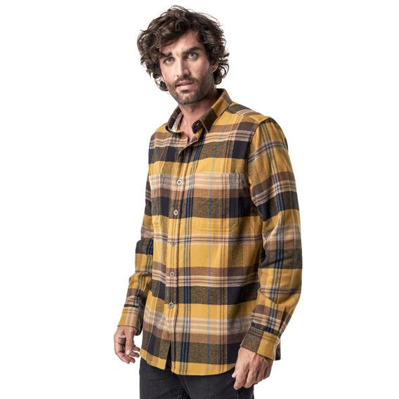 Camisa Hombre Haka Honu Hachazo Mostaza I19