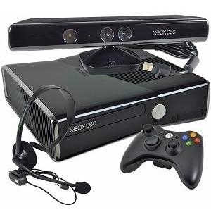 Xbox 360 Slim 250 Gb C/ Kinect + Gta V Midia Fisica Original