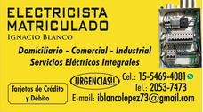 Electricista Matriculado / Urgencias Tablada-luzuriaga-haedo