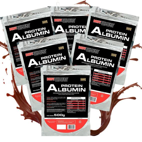 6x Albumina 500g Bodybuilders-envio 1dia Após Aprovação