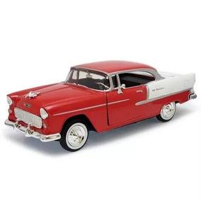 Miniatura Chevy Bel Air 1955 Vermelho 1:24 - Motormax