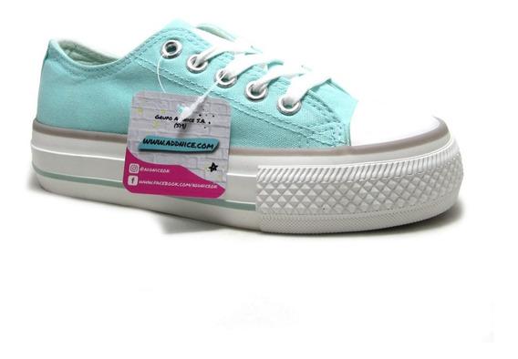Zapatillas Addnice Amparo Plataforma Lona Nenas Moda