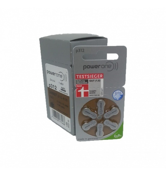 72 Pilhas Baterias P312 Pr41 Aparelho Auditivo - Power One