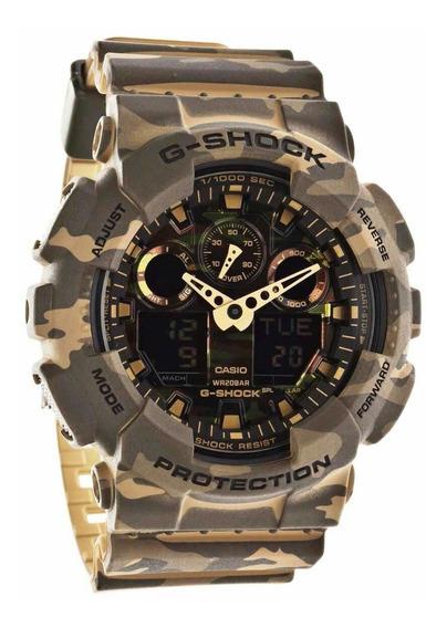 Reloj Casio G-shock Ga100 Camuflado Arena Edicionlimitada