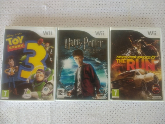 Lote Jogo Wii Toy Story Need Speed Harry Potter Pal Europeu