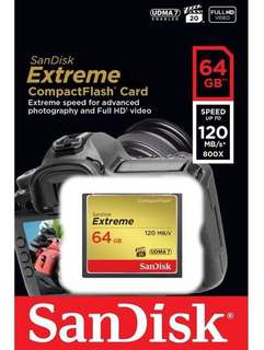 Cartão Memória 64gb Compact Flash Sandisk Cf Extreme 120 Mb