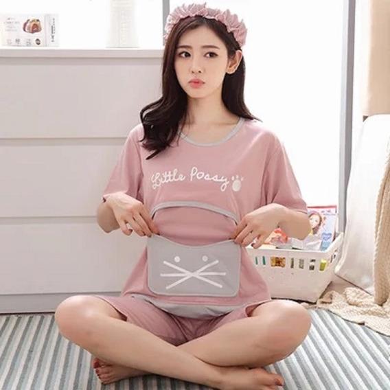 Pijama Para Embarazo Y Lactacia Comoda Y Practica De Verano!