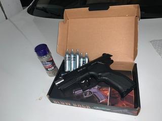 Pistola Airgun Wingun W129 Slide Metal Co2 4,5mm