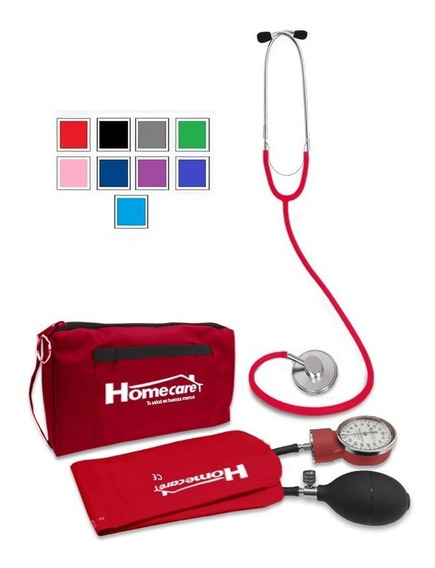 Kit Baumanómetro Estetoscopio Simple Homecare Varios Colores