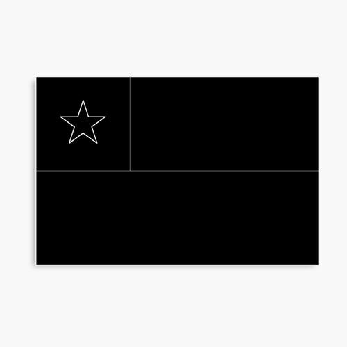 Imagen 1 de 1 de Bandera De Chile Negra 150 Cm X 90 Cm