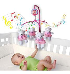 Móbile Em Pelúcia Giratório Musical De Bebê Bailarina Ursa