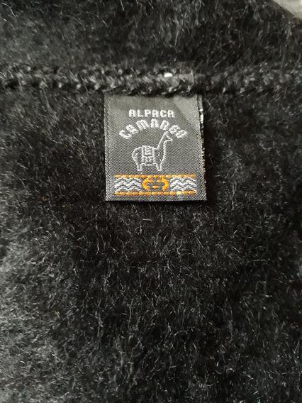 Bufanda De Alpaca Camargo Negra Importada