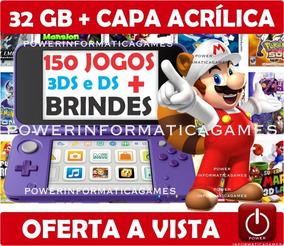 New 2ds Xl + 150 Jogos + 32gb + Capa Acrílica + Fonte