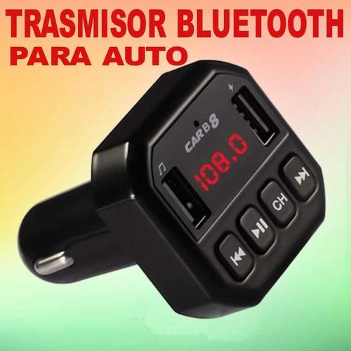 Trasmisor De Bluetooth Para Auto 2 Entrada Usb