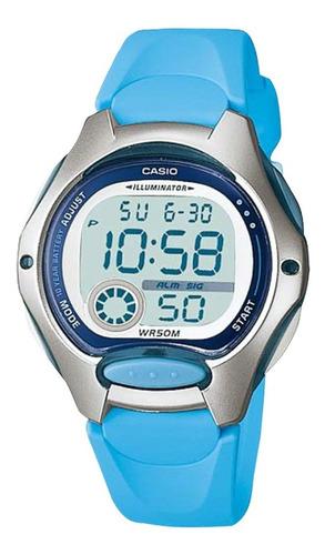 Reloj Mujer Casio Lw-200-2b Celeste Digital / Lhua Store