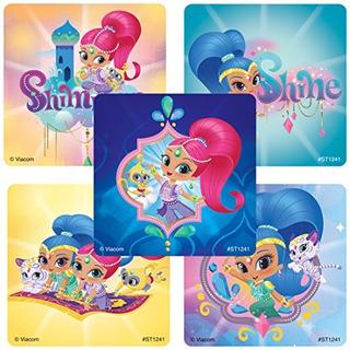 Shimmer - Shine Stickers - Premios Y Obsequios - 100 Por Paq