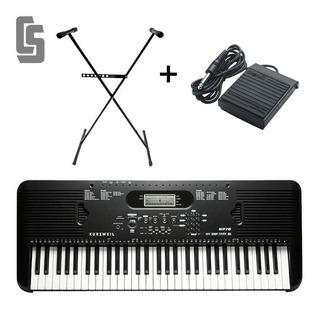 Teclado Kurzweil Kp70+ Soporte +fuente +atril +pedal Sustain