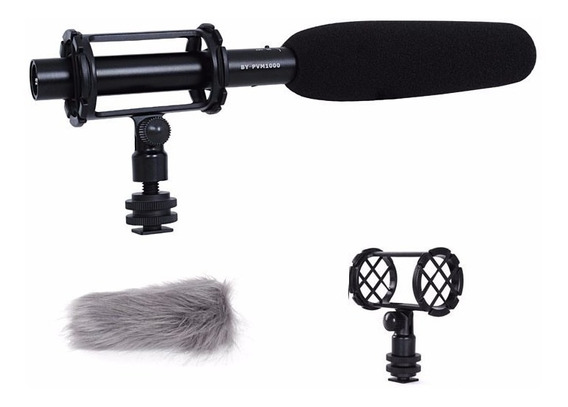 Microfone Shotgun Direcional Boya By-pvm1000 - Temos Loja