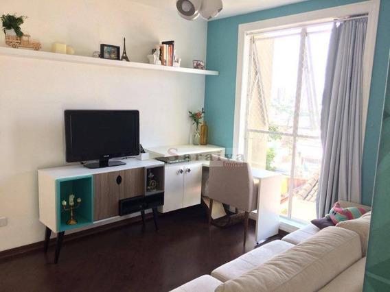 Apartamento Com 1 Dormitório À Venda, 53 M² Por R$ 210.000,00 - Vila Valparaíso - Santo André/sp - Ap3413