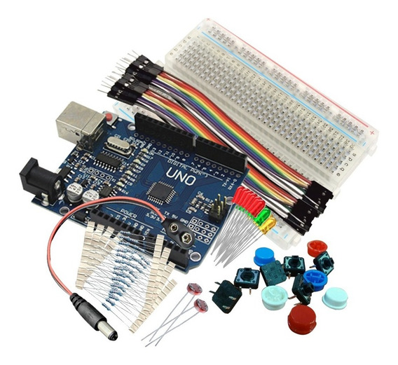 Kit Arduino Para Principiantes Protoboard+cables+placa 2